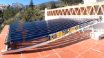 Solar térmica con tubos de vacío en vivienda unifamiliar. Benalmádena, Málaga
