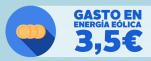 En 2013 un hogar medio pagó 3,5€ a la eólica por el 20,9% de generación