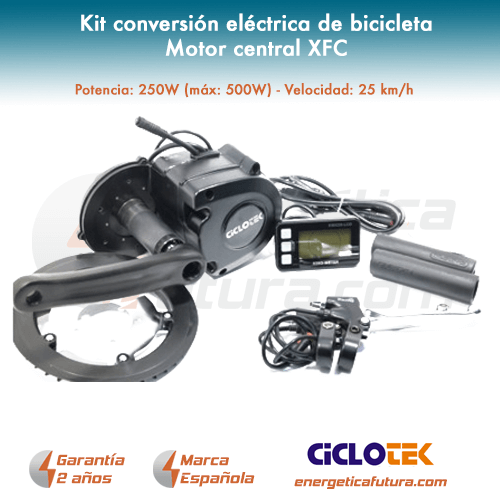 Kit electrico bicicleta motor central XFC_2