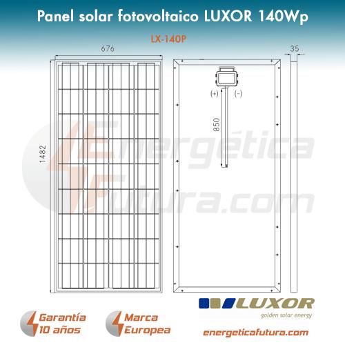 panel solar fotovoltaico luxor 100wp lx 100m 12v. Black Bedroom Furniture Sets. Home Design Ideas