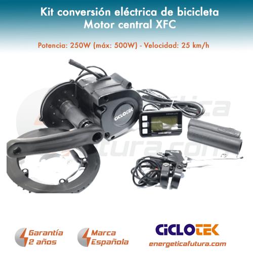 Kit Electrico Bicicleta Motor Central Xfc 2 Energ 201 Tica