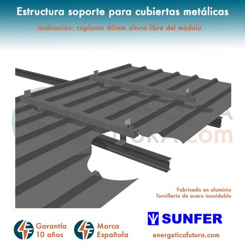 Estructura De Paneles Solares Para Cubierta Metálica Kh915