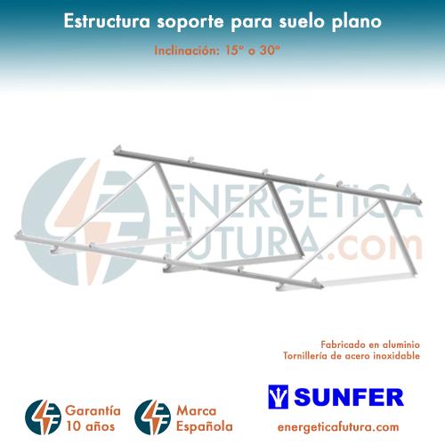 Energía Solar Y Eólica Estructura Metálica Para 1 Módulo